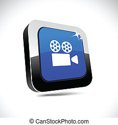 Cinema 3d square button.