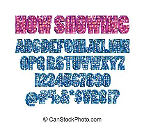 Cinema alphabet vector