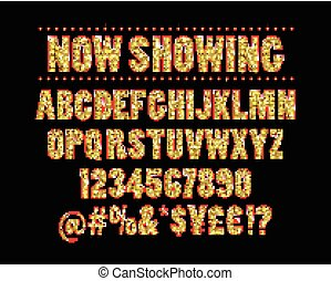 Cinema alphabet vector