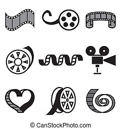 cinema and movie hand drawn icons