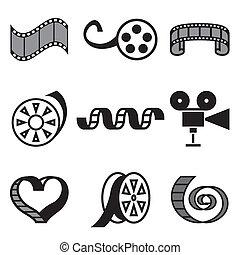 cinema and movie hand drawn icons