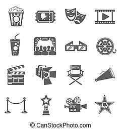 Cinema and Movie Icons Set