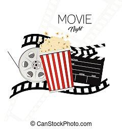 cinema and movie night illustration background two