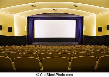 Cinema auditorium - Empty cinema auditorium with line of ...