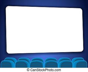 Cinema auditorium with screen