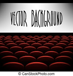 Cinema auditorium with screen vector background