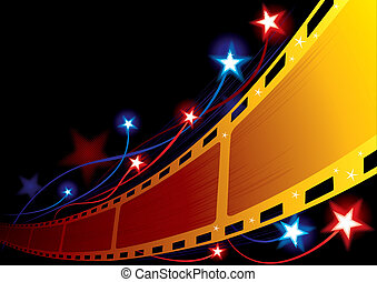 Design for movie premiere or projection in cinema