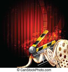 Cinema Background - illustration of Cinema background with ...