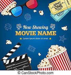 Cinema Background Movie Name. Vector