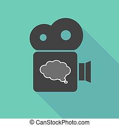 cinema, balloon, longo, câmera, cômico, sombra, nuvem