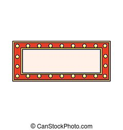 cinema blank billboard icon, flat design