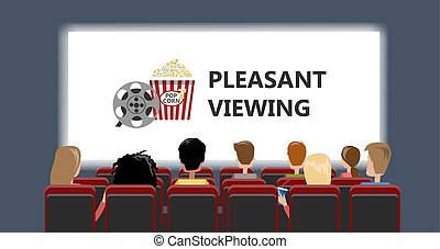 Cinema building interior. - Cinema building interior with...