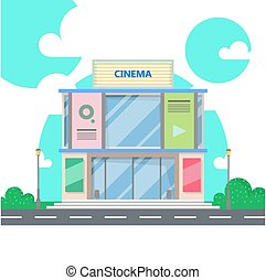 Cinema building. Movie Theater.