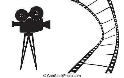 Cinema camera and movie vector illustration - Cinematography...