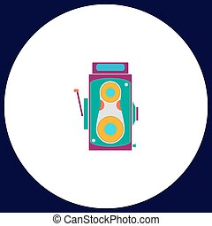 Cinema camera computer symbol