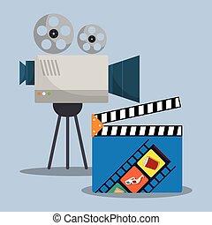 cinema camera film clapper director
