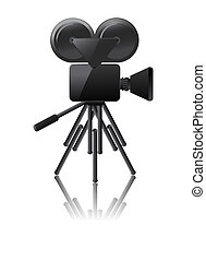 cinema camera icon on a white background