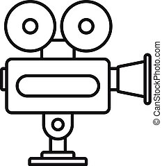 Cinema camera icon, outline style