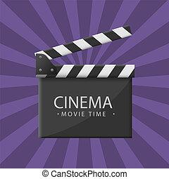 Cinema clapper board - Movie production clapper board. Film...