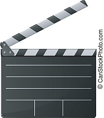 cinema clapper. vector