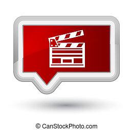 Cinema clip icon prime red banner button