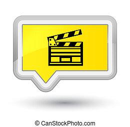 Cinema clip icon prime yellow banner button