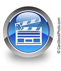 Cinema clipboard glossy icon - Cinema clipboard icon on ...