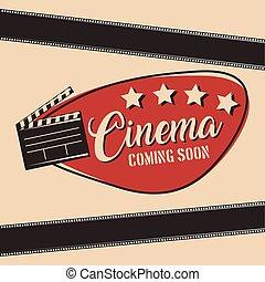 cinema coming soon movie film clapper board