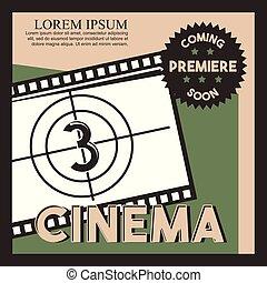 cinema coming soon poster film strip countdown