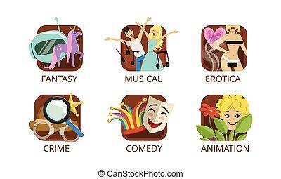 cinema, commedia, erotica, produzione, film, musicale,...