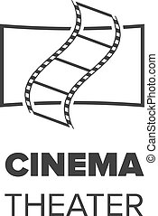 cinema, corredor, ícone