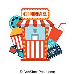 cinema design - cinema design over white background vector...