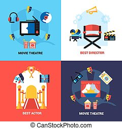 Cinema Design Concept Set