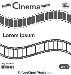 Cinema design elements on white