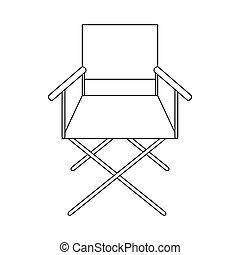 Cinema director chair icon, outline style