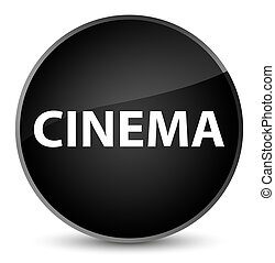 Cinema elegant black round button
