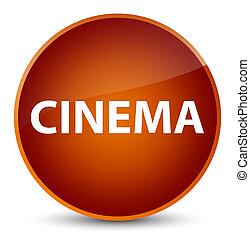 Cinema elegant brown round button