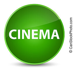 Cinema elegant green round button