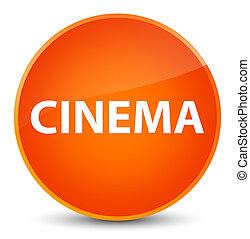 Cinema elegant orange round button