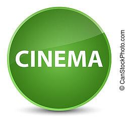 Cinema elegant soft green round button