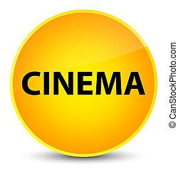 Cinema elegant yellow round button