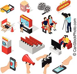 Cinema Elements Icon Set