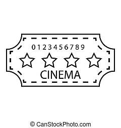 Cinema emblem icon, outline style