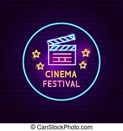 Cinema Festival Neon Sign
