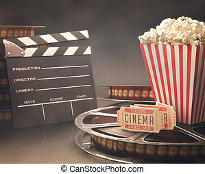 Cinema Festival - Objects related to the cinema on...