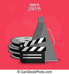 cinema film clapper reel symbol