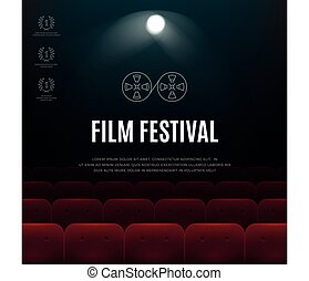 cinema film festival vector abstract poster background