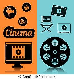 cinema film industry concept poster