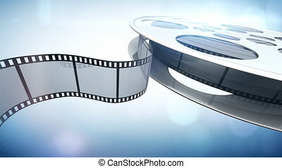 Cinema film reel. Seamlessly loopable motion background.