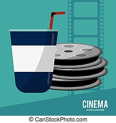 cinema film reel soda disposable